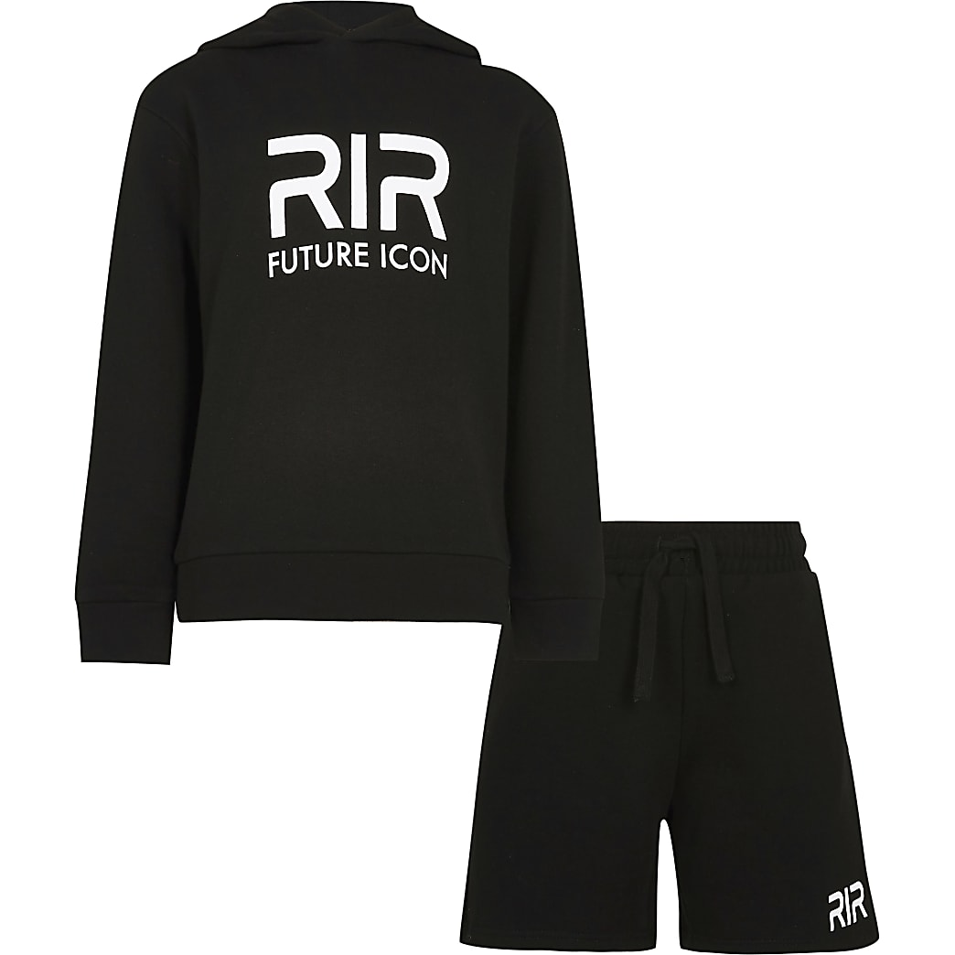 Age 13+ boys black RR hoodie outfit