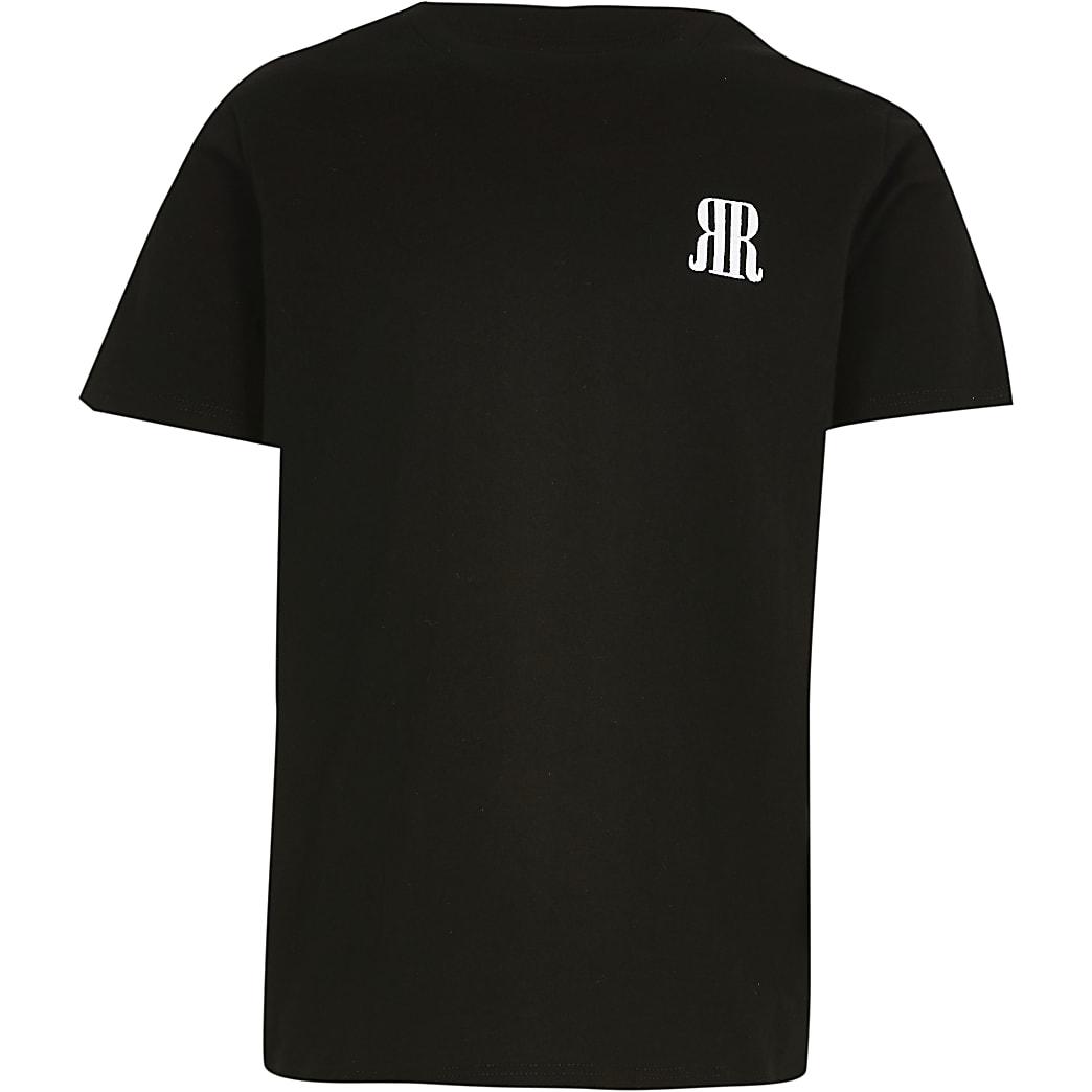Age 13+ boys black RR logo t-shirt