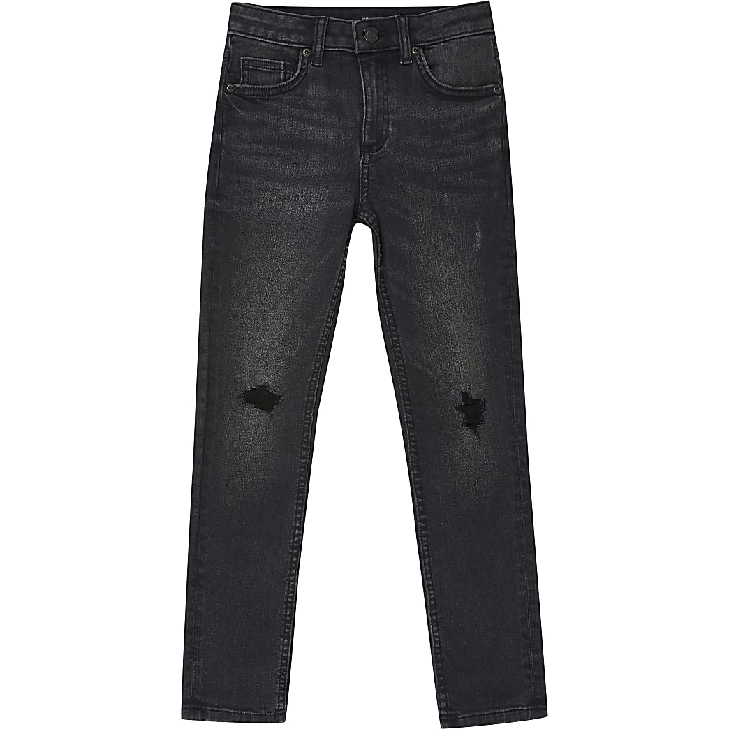 Age 13+ boys black Sid ripped skinny fit jean