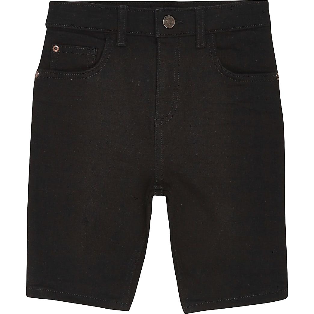 Age 13+ boys black skinny shorts