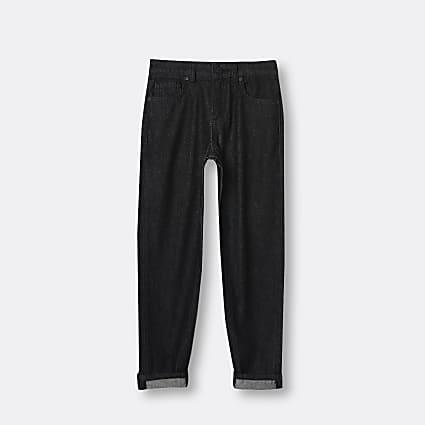 Age 13+ boys black turn up skinny jeans