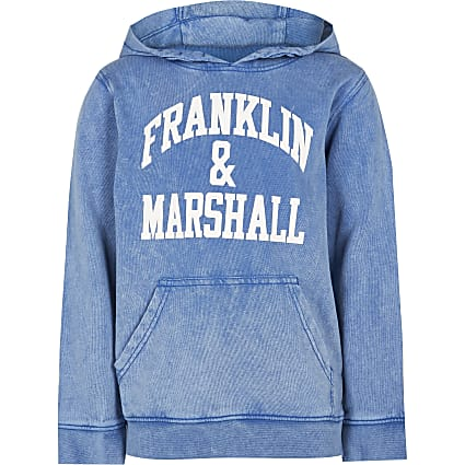 Age 13+ boys blue Franklin & Marshall hoodie