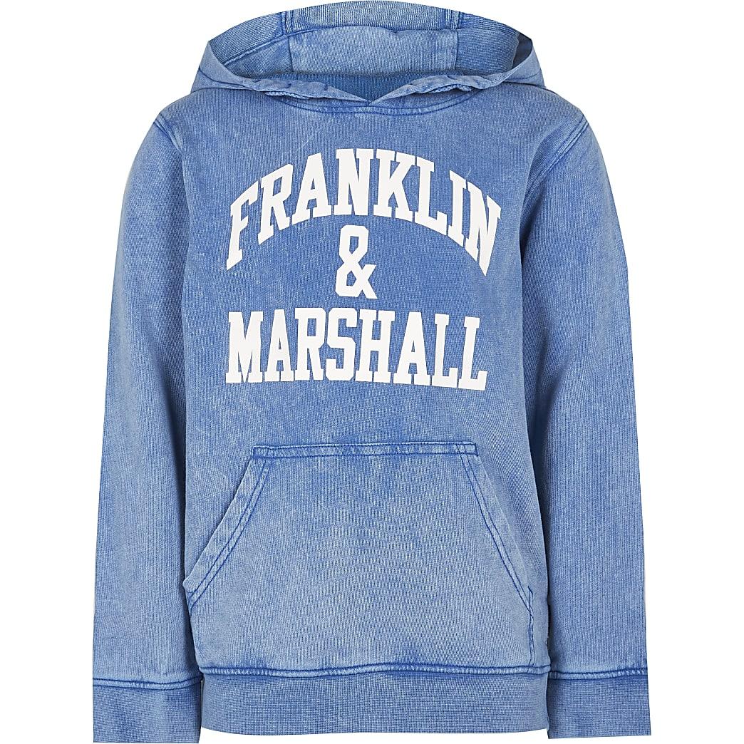 Age 13+ boys blue Franklin & Marshall hoodie