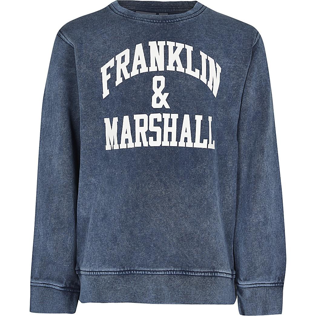Age 13+ boys blue Franklin & Marshall top