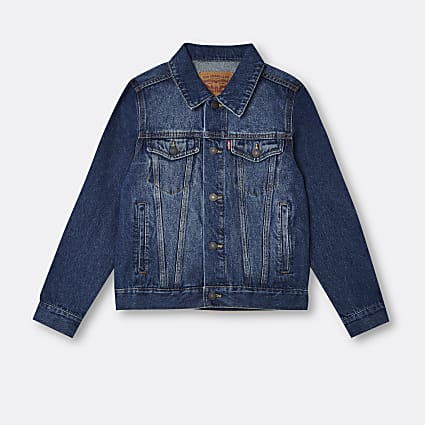 Age 13+ boys blue Levi's denim jacket