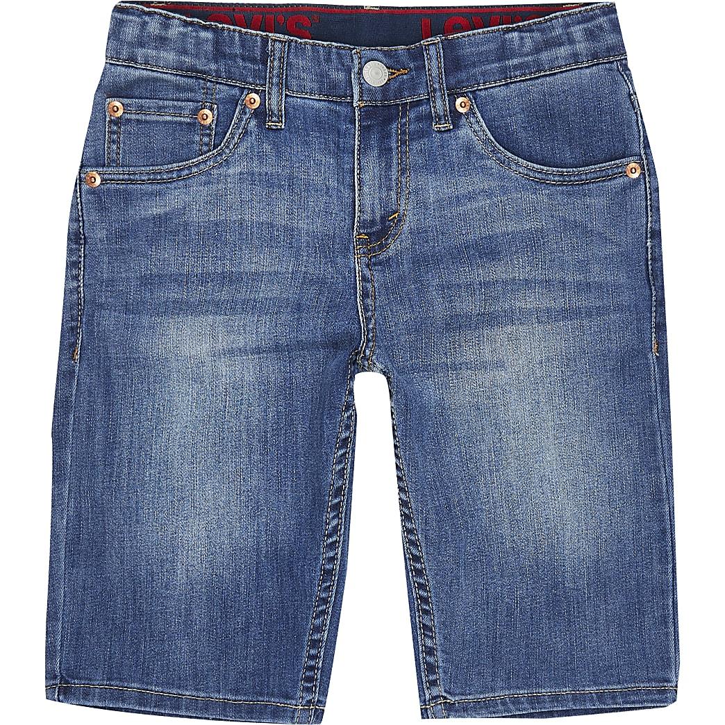 Age 13+ boys blue Levi's denim shorts