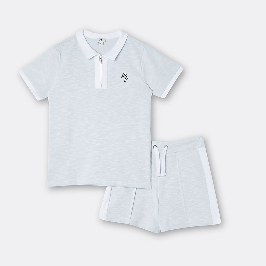 Age 13+ boys blue Maison Riviera shorts set