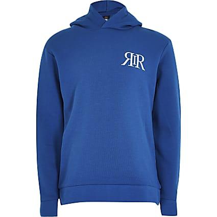 Age 13+ Boys blue RIR printed hoodie