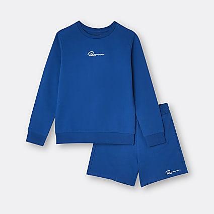Age 13+ boys blue River sweatshirt set