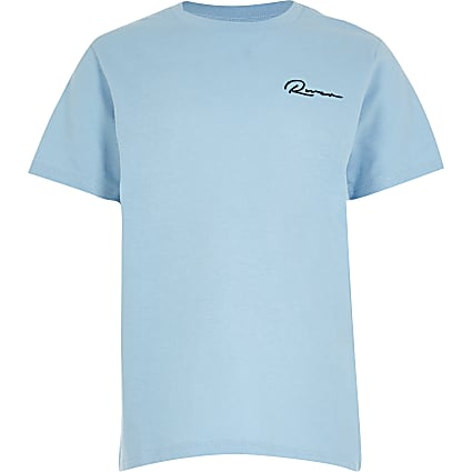 Age 13+ boys blue 'River' t-shirt