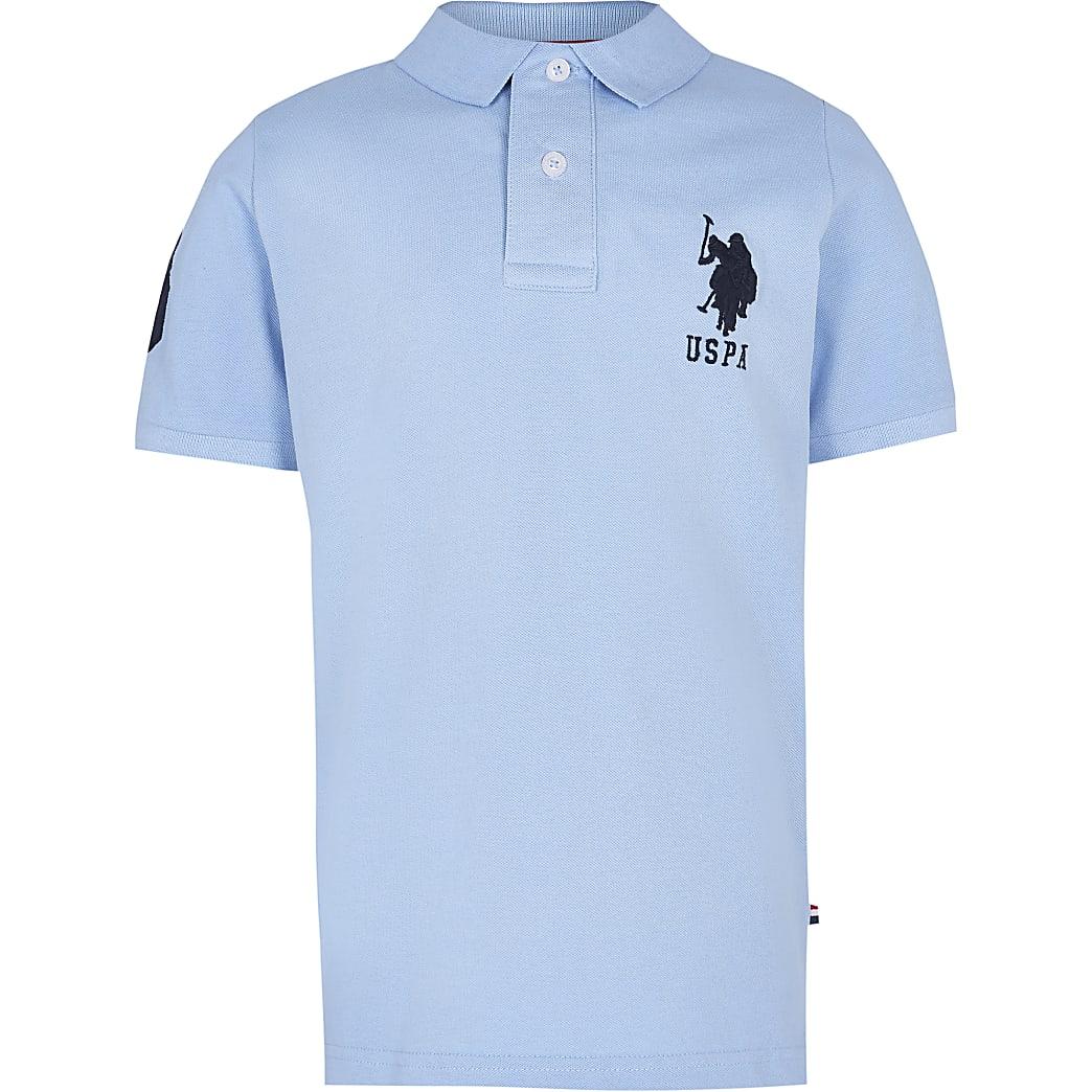 Age 13+ boys blue USPA polo shirt