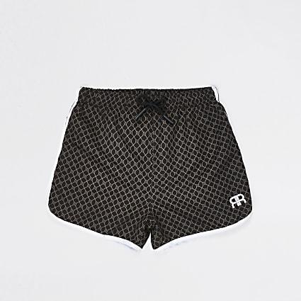 Age 13+ boys brown RI monogram swim shorts