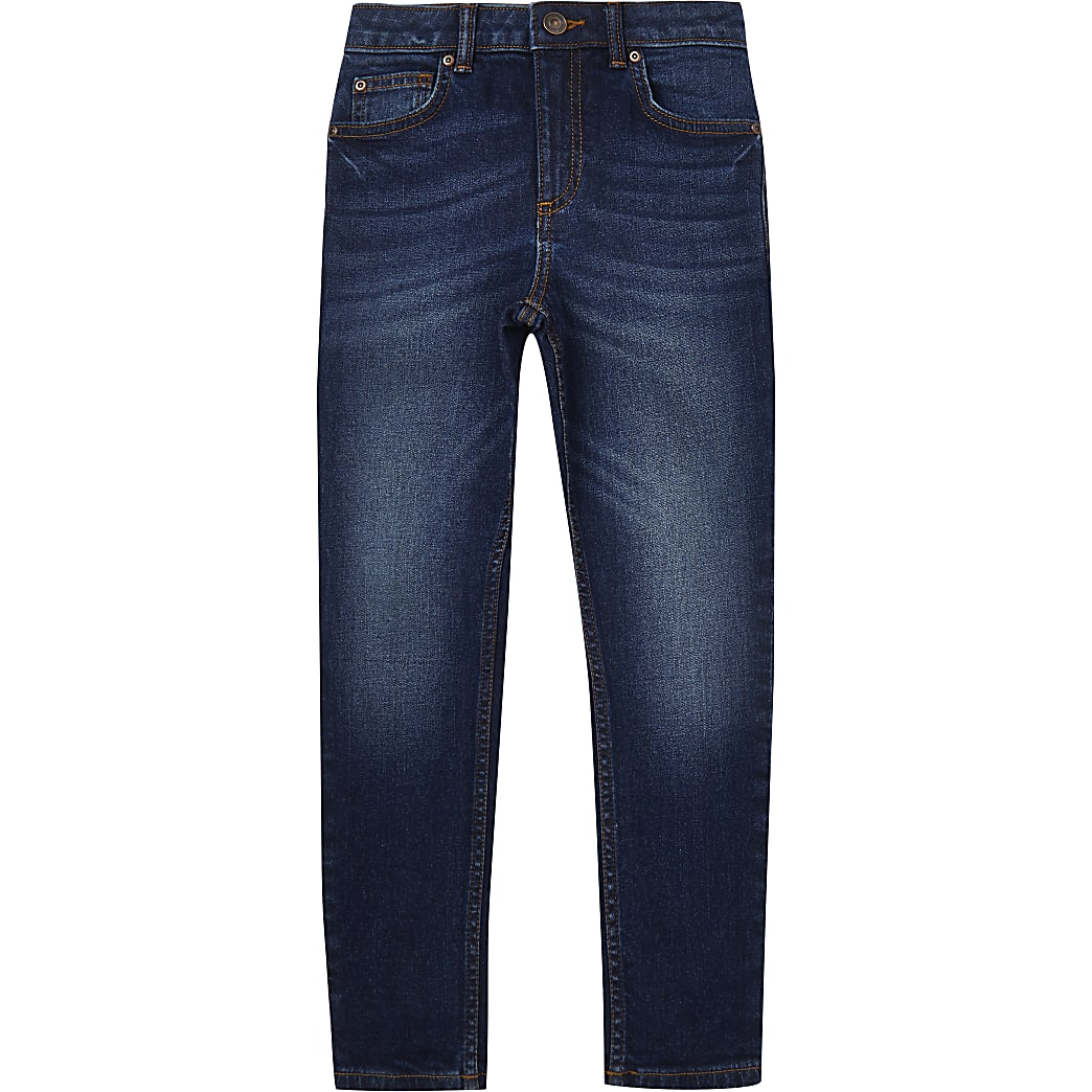 Age 13+ boys dark blue skinny jeans