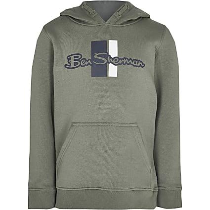 Age 13+ boys green Ben Sherman hoodie