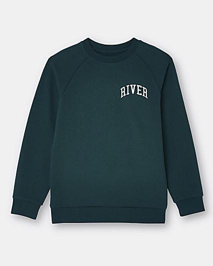 Age 13+ boys green River sweatshirt