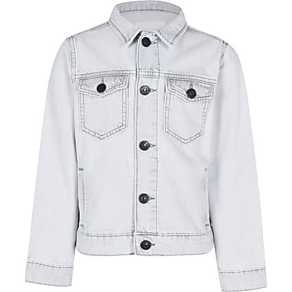 Age 13+ boys grey denim jacket