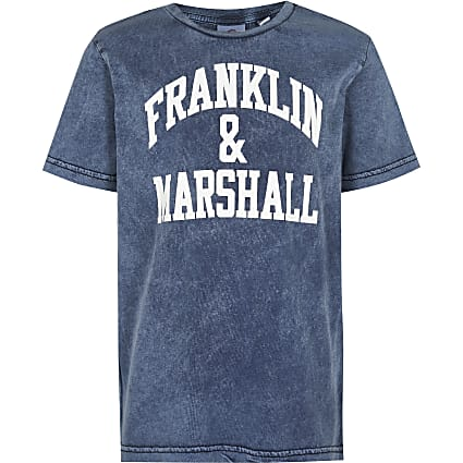 Age 13+ boys grey Franklin & Marshall t-shirt