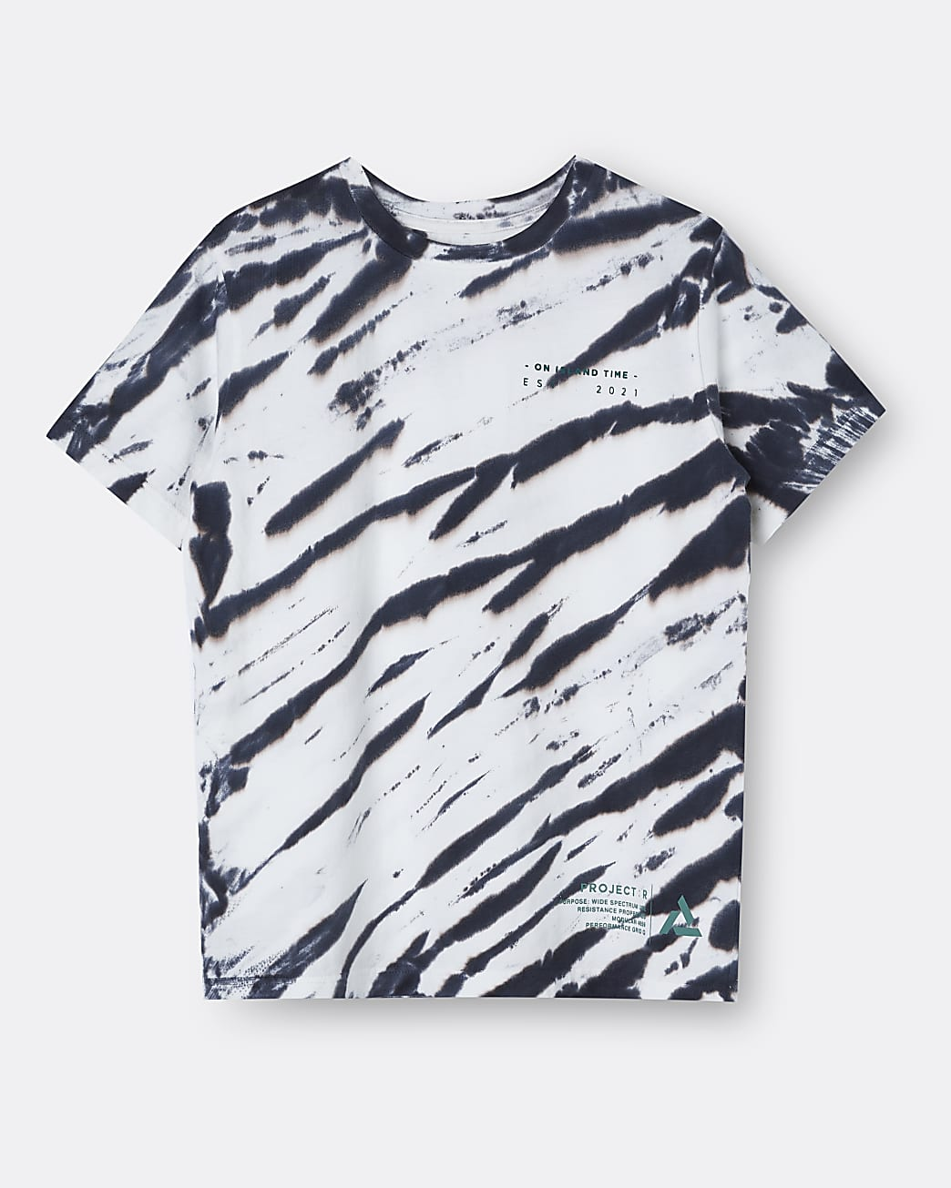 Age 13+ boys grey Pineapple tie dye t-shirt