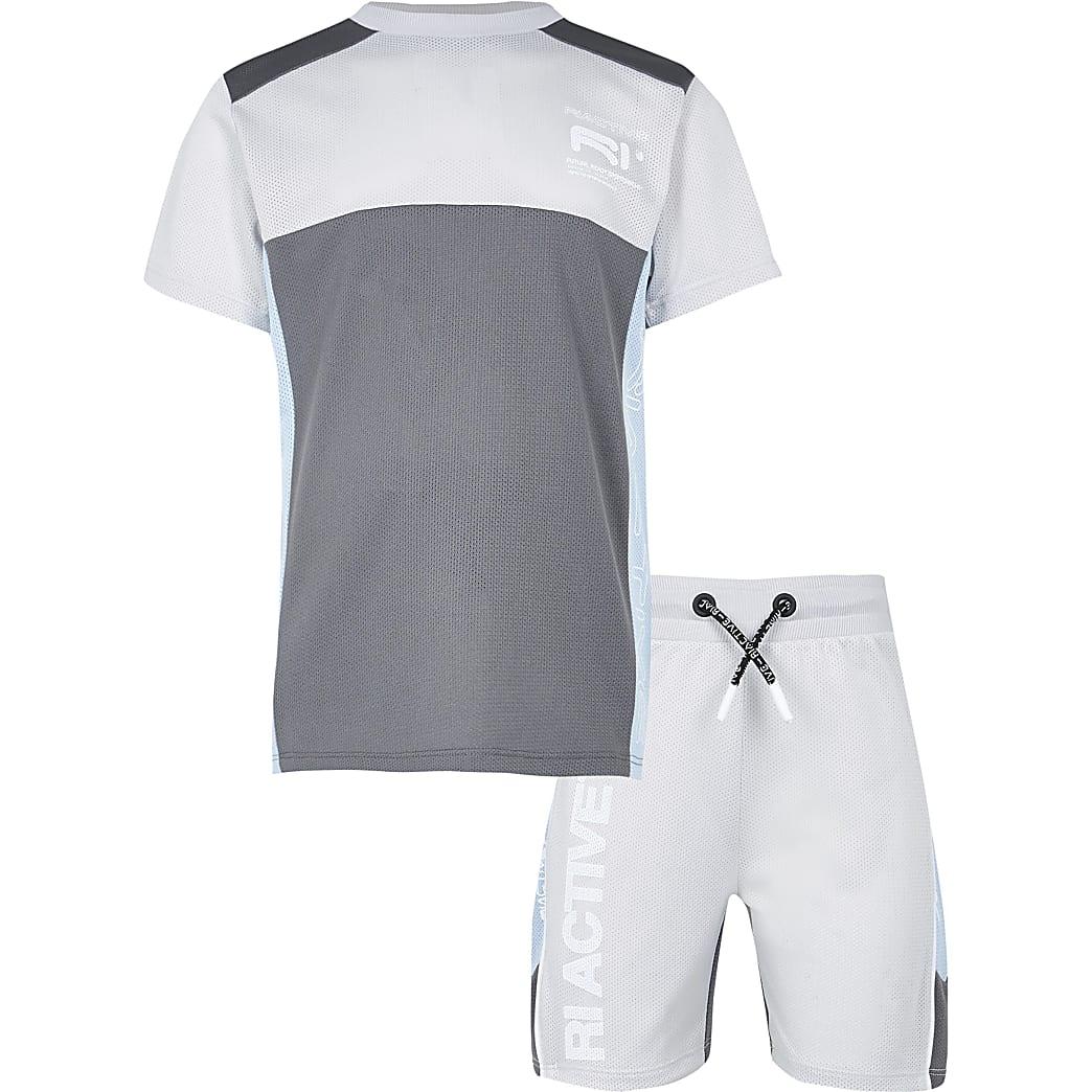 Age 13+ boys grey RI Active mesh block outfit