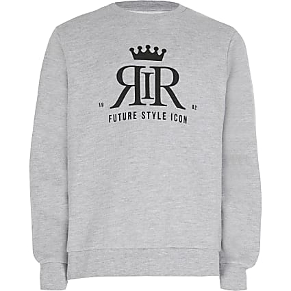 Age 13+ boys grey RIR sweatshirt