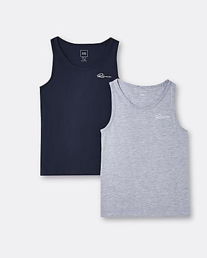 Age 13+ boys grey River vests 2 pack