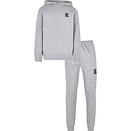 Age 13+ boys grey RR hoodie and jogger outfit