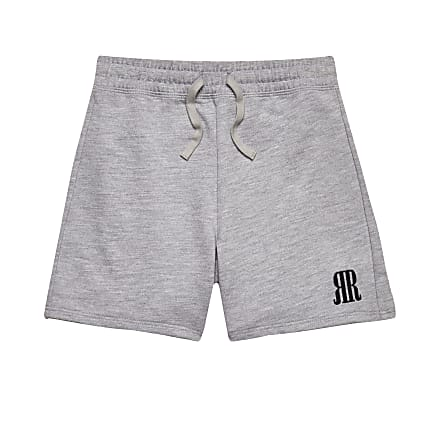 Age 13+ boys grey RR logo shorts