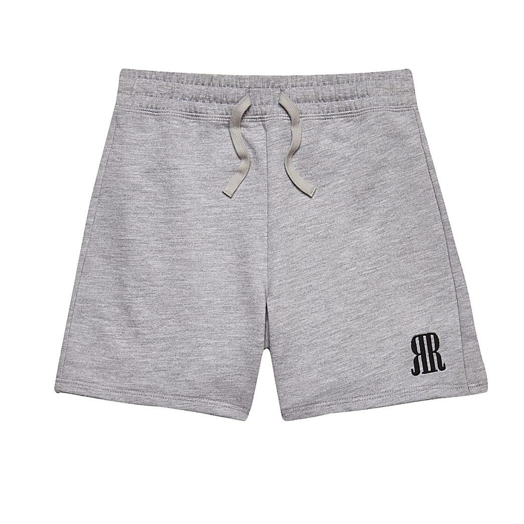 Age 13+ boys grey RR logo shorts