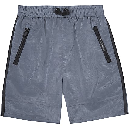 Age 13+ boys grey two tone tech shorts