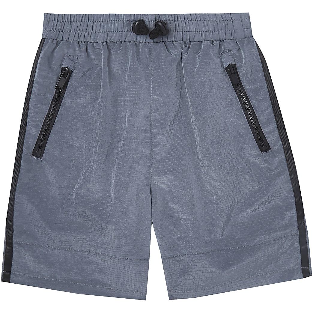 Age 13+ boys grey two tone tech shorts