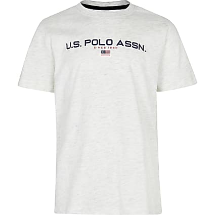 Age 13+ boys grey USPA logo t-shirt