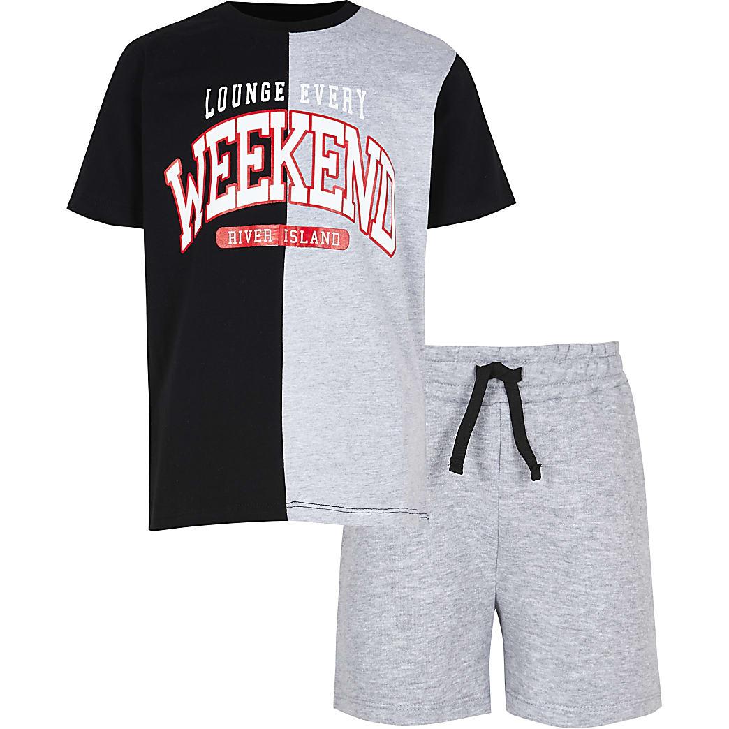Age 13+ boys grey 'Weekend' pyjama set