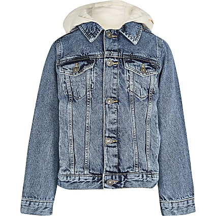Age 13+ boys hooded denim jacket