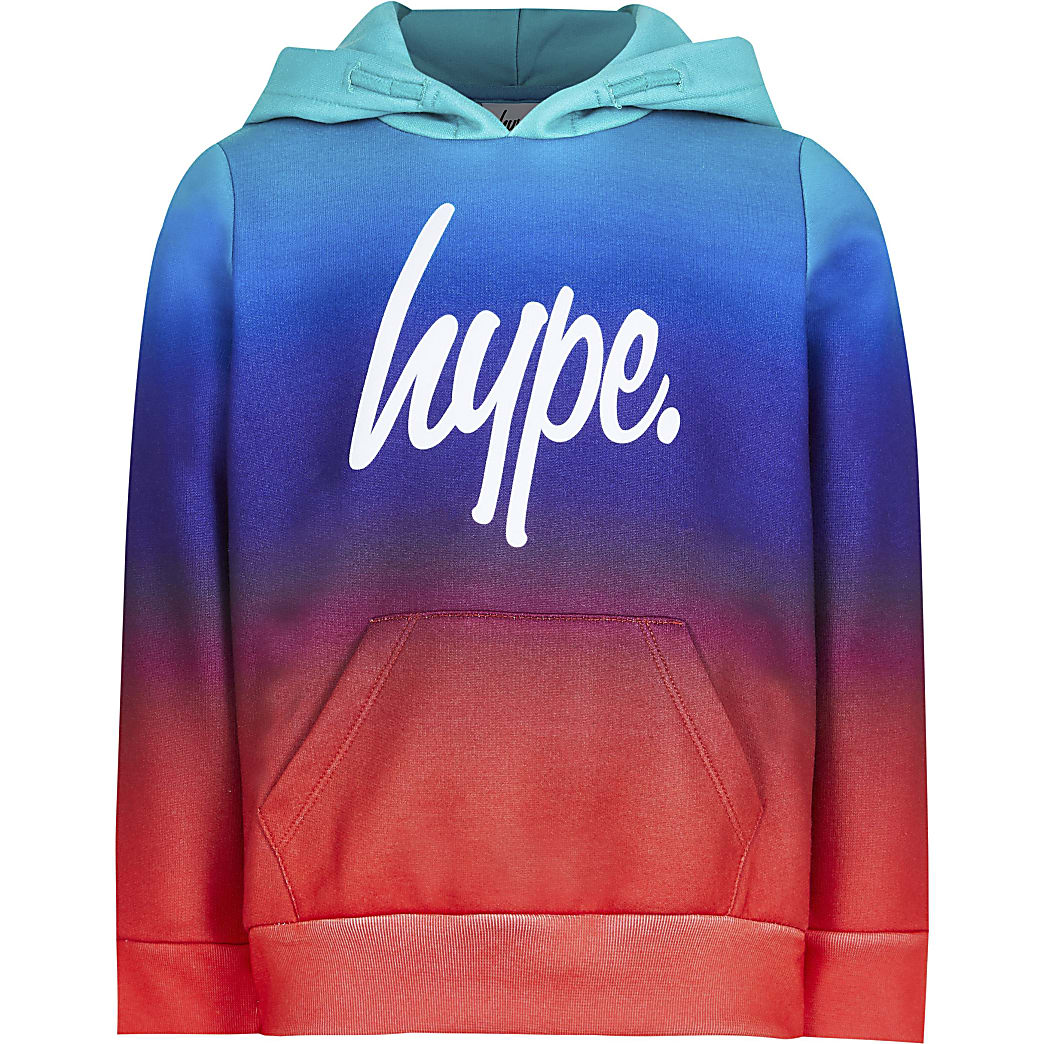 Age 13+ boys hype  blue fade hoodie