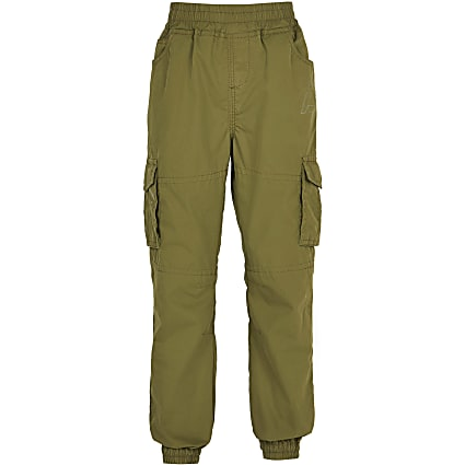 Age 13+ boys khaki cargo trousers