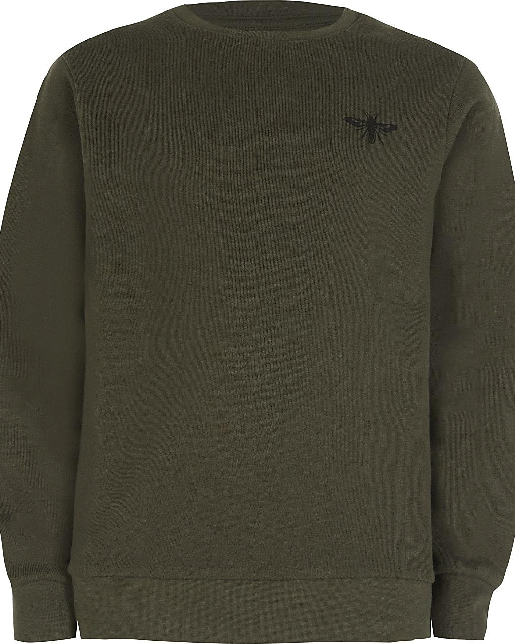 Age 13+ boys khaki wasp sweatshirt