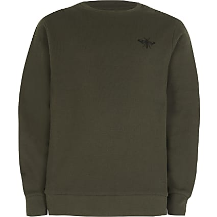 Age 13+ boys khaki wasp sweatshirt