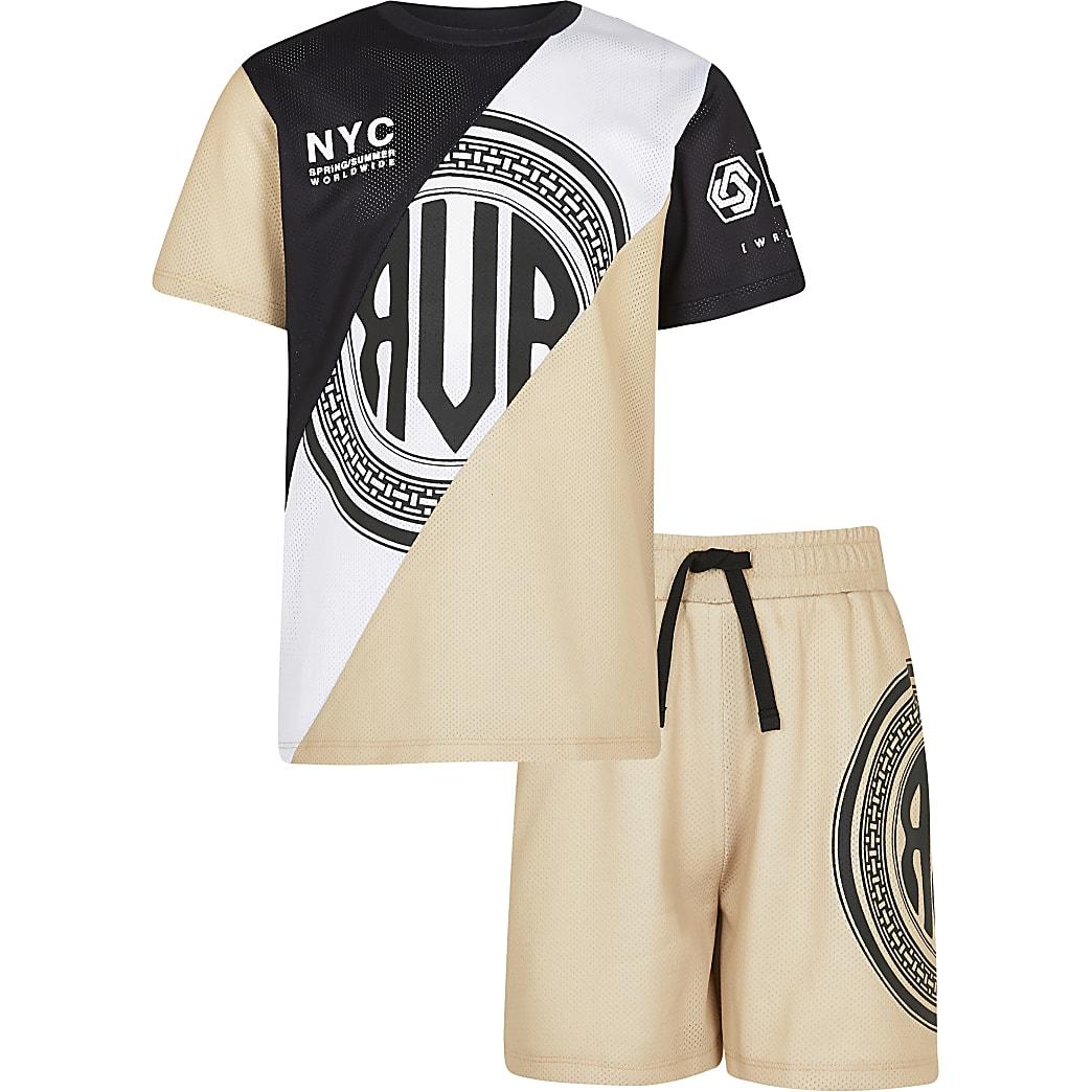 Age 13+ boys mesh t-shirt and shorts set