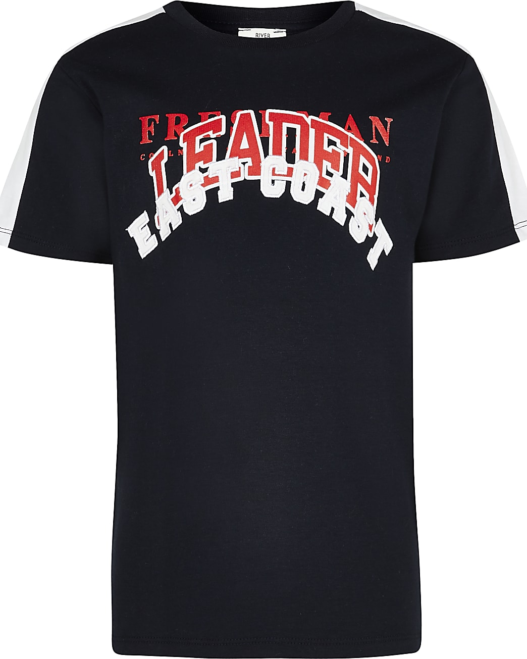 Age 13+ boys navy 'East coast' t-shirt
