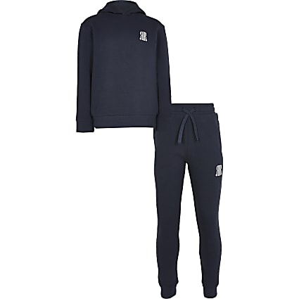Age 13+ boys navy RR hoodie and jogger outfit