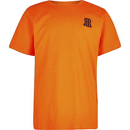 Age 13+ boys orange RR logo t-shirt
