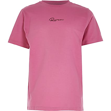 Age 13+ Boys pink 'River' print t-shirt