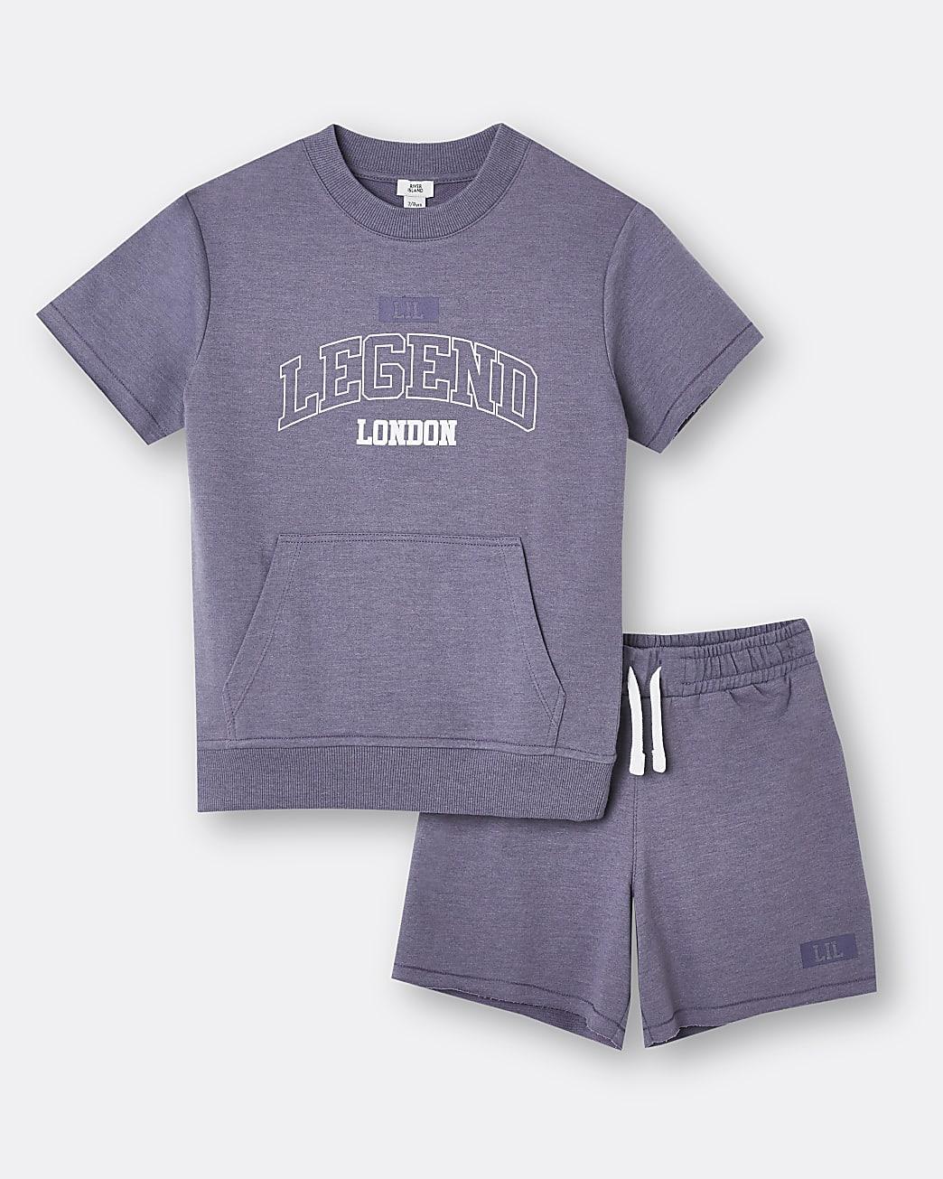 Age 13+ boys purple 'Legend' shorts outfit