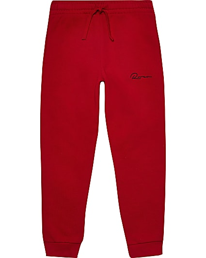 Age 13+ boys red 'River' joggers