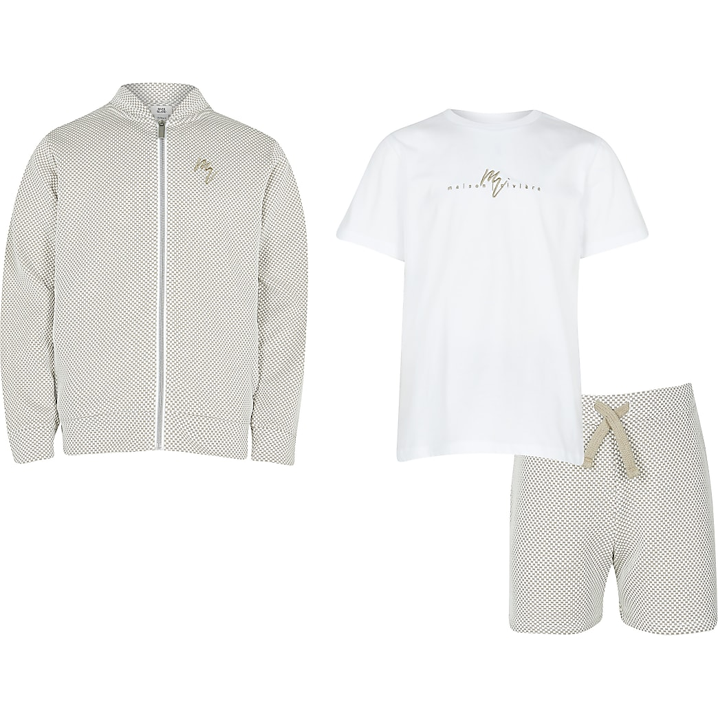 Age 13+ boys stone bomber 3 piece outfit