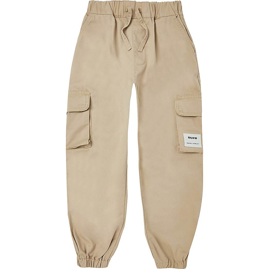 Age 13+ boys stone chino trousers
