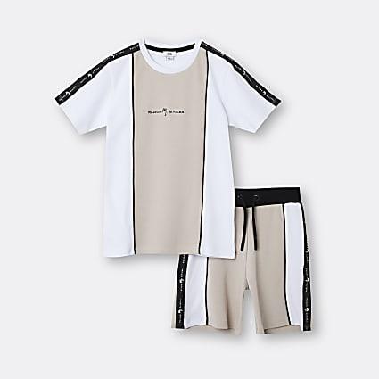 Age 13+ boys stone Maison Riviera t-shirt set