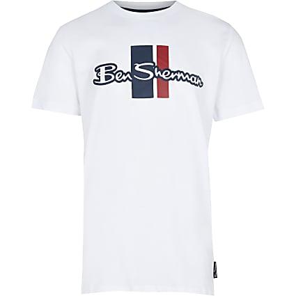 Age 13+ boys white Ben Sherman t-shirt
