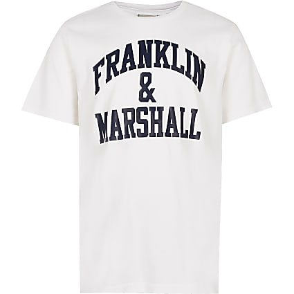 Age 13+ boys white Franklin & Marshall top