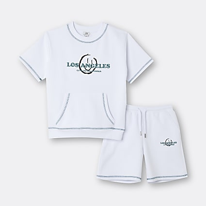 Age 13+ boys white 'Los Angeles' outfit
